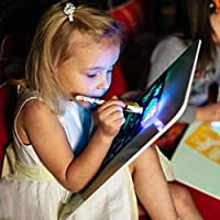 PerGrate Fluorescent Drawing Board, Illuminated Light Drawing Board Toy Development Drawing Doodle Tablets Education Toys, 15cmx22cm, 21cmx30cm and 30cmx43cm