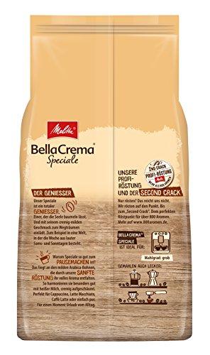 Melitta Ganze Kaffeebohnen, 100 % Arabica, mildes Aroma, leichter Charakter, milder Röstgrad, Stärke 2, BellaCrema Speciale, 1000g - 3