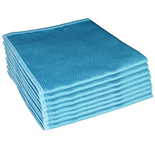 Aqua Laser Dust Cloth Set 8 pcs Diamond Packed in Polybag Household Cleaning Supply Rug Pad Blue