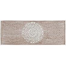 Cuadro cabecero clásico gris de madera para dormitorio 45 x 120 cm Sol Naciente - Lola Derek
