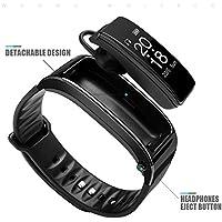 Raydoes-Bluetooth Llamar Pulsera Inteligente Bluetooth Auriculares Música Medidor de Deportes Paso Frecuencia Cardíaca Monitorización