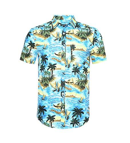 NUTEXROL Camisa de Hombre Camisas Hawaianas Camisas Estampadas de Hombre Camisa de Verano...