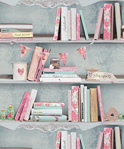 arthouse-opera-curious-multi-wallpaper-694000-bookcase-book-shelf-love-hearts