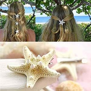 GGG Chic femme fille forme de belle étoile de mer pince à cheveux plage vacances barrette