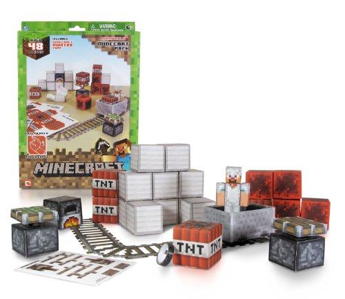 Preisvergleich Produktbild Minecraft 16713 - Papierset zum Selberbasteln, Minecart, 48 Teile