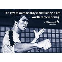 Bruce Lee–# 55–Motivation unique–– Anglais Célèbre Bruce Lee Poster Citations Poster–A3–Citation Panneau Poster Photo, Bodybuilding, boxe, arts martiaux,