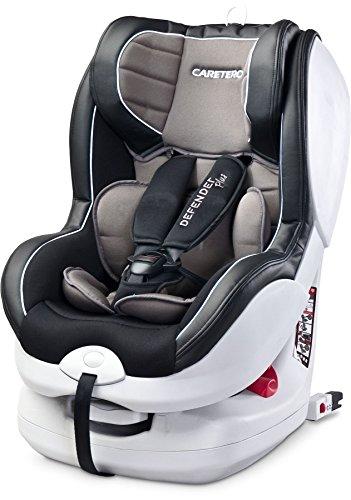 Caretero Defender Plus mit ISOFIX Autositze, Kindersitze, Kinderautositze, Gruppe 0+/1 (0-18kg) Graphite
