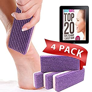 Love Pumice #1 Amazing Synthetic Glass Pumice Stone (Pack of 4) - Foot File & Scrubber - Callus remover- Pedicure Tools for Exfoliation - Treat Hard Skin & Cracked Heels - For Feet,Hands and Body