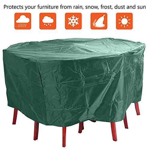 ANSIO Round Patio Set Cover Outdoor Garden Furniture Cover/Patio Cover Size 190 x 80 cm / 74.8 x 31.5 inch