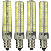 Granvoo 4Pcs E14 7W LED Luz Silicona Blanco Frío 136X5730 SMD AC 220-240V