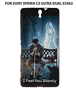 JKOBI(TM) Exclusive Rubberised Back Case Cover For SONY XPERIA C5 ULTRA DUAL E5563-Silent Love