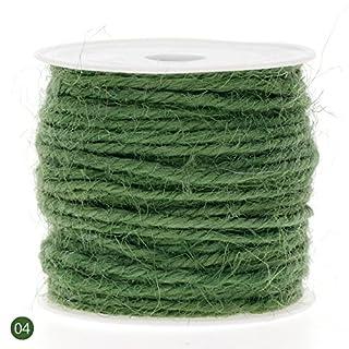 RUNGAO 10M DIY Color Hemp Rope 2mm Natural Craft Jute Rope Cord Thick String Green