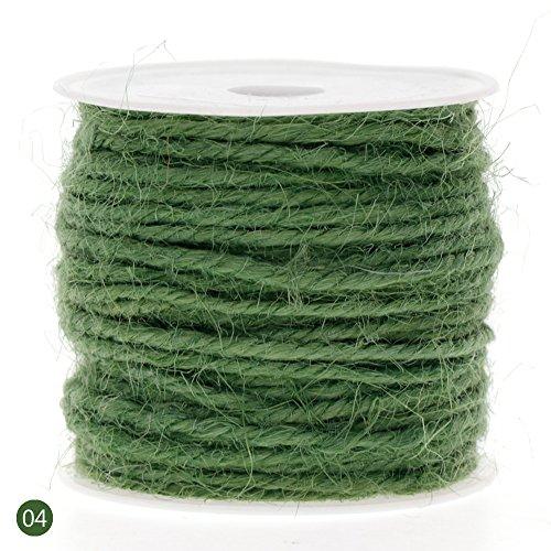 Rungao 10m Hanfseil Juteschnurl DIY Kunstgewerbe Heimwerk Kordel,2mm x10m, grün