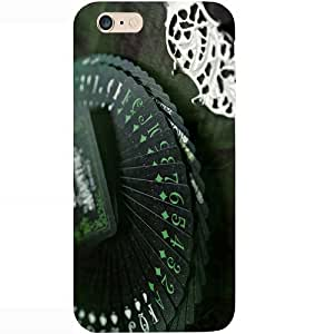 Casotec Green Playing Cards Design Hard Back Case Cover for Apple iPhone 6 Plus / 6S Plus