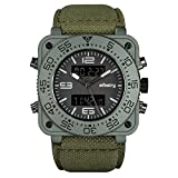 INFANTRY Herren Analog-Digital Armbanduhr Alarm Stoppuhr Chronograph Outdoor LCD Fliegeruhr Nylon Armband