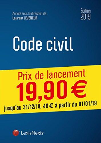 Code civil 2019: Avec livret comparatif : Réforme du droit des contrats, du régime général et de la preuve des obligations. Prix de lancement jusqu'au 31/12/2018, 19.90 ¤ à compter du 01/01/2019 par Laurent Leveneur