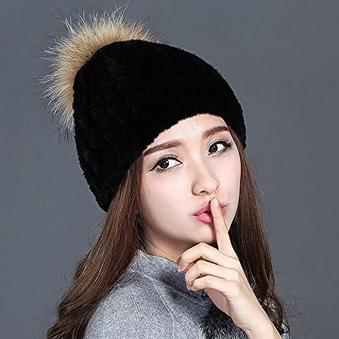 Dngy*Ms. In inverno la pelliccia cappello caldo inverno hat peli