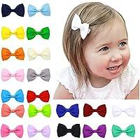 20 pc delle neonate piccoli bambini molto piccoli boutique dei capelli piega le clip Barrettes - Grosgrain Clip Arco