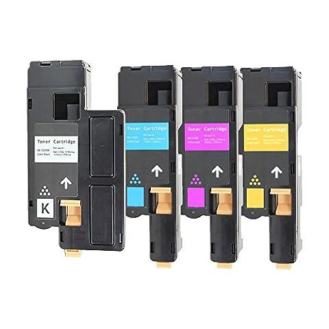 4 Toner Lasertoner für Dell 1250C 1355CN ersetzen 1250 593-11016 593-11021 593-11018 593-11019