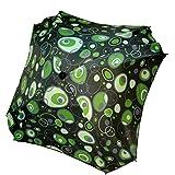 BAMBINIWELT Sonnenschirm für Kinderwagen ECKIG Ø74cm UV-Schutz50+ Schirm Sonnenschutz SONDERPOSTEN reduziert (Grüne Grüne Blasen)