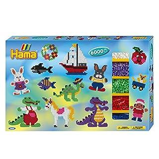Hama - 3028 - Loisirs Créatifs - Boîte Grand Modèle Perles à Repasser - Taille Midi - Boîte Cadeau Géante