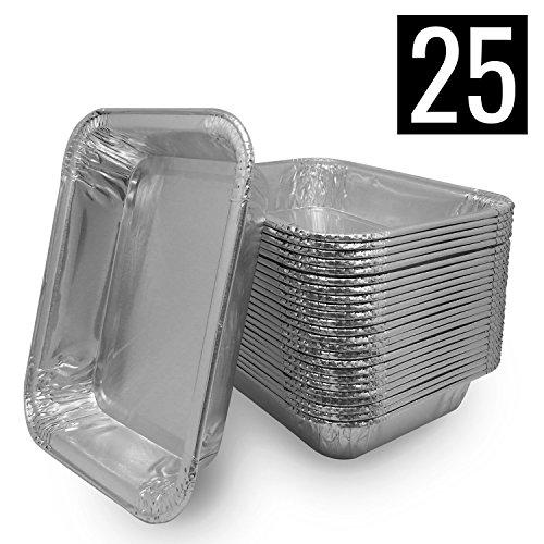 Mamatura 25 Aluschalen | Passend für Alle Napoleon Grills | High Quality Alu-Tropfschalen, Grillschalen, 25 Stück