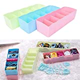 VR SHOPEE Socks Undergarments Storage Drawer Organiser Set of 4, Assorted Colour