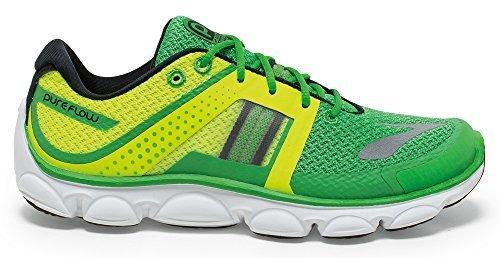 Brooks Pure Flow 4, Chaussures Multisport Outdoor Garçon, Vert-Vert Vert - Vert