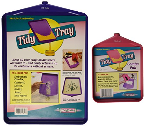 Tidy Crafts Kunststoff Tablett Combo 2kg-6-inch X 20,3cm und 25,4cm x 35,6cm - Tidy Tray
