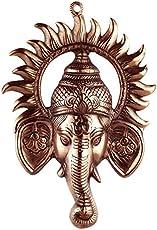Advitiya Black Metal Brass Ganesh Ji With Suraj Ji (30x0.5x20 CM,Copper)