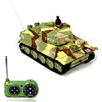 Atdoshop New Mini 1:72 49MHz R/C Radio Remote Control Tiger Tank 20M Kids Toy Gift Army (Yellow) - Compare prices on radiocontrollers.eu