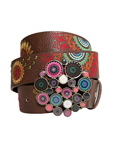 Desigual Cint_Chapón Belt Dakota, Cintura Donna, Marrone (Chocolate 6009), 90 cm (Taglia Produttore: 90 Cm)