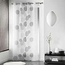 Douceur d 'Intérieur japonica Ösenvorhang, Polyester Weiß 240x 140x 0,1cm