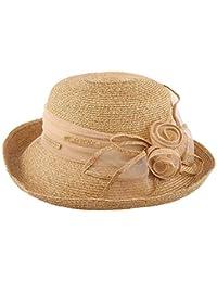 Cappello da Sole da Donna Cappello - Cappello di Paglia Cappello Estivo da  Donna Protezione Solare 27b5f3320c0e