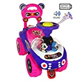 #10: Golden Traders Stylish Baby Kids Dream Rider | 2-5 Years | No Battery | BackRest | No Pedal | Easy to Assemble | Hard Plastic Material Pink (GT 1045)