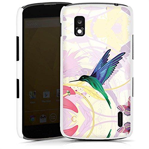 DeinDesign LG Nexus 4 Hülle Schutz Hard Case Cover Kolibri Vogel Blume