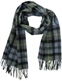 "Lona Scott Womens Tartan Wool Scarves With Fringe 60"" x 12"""