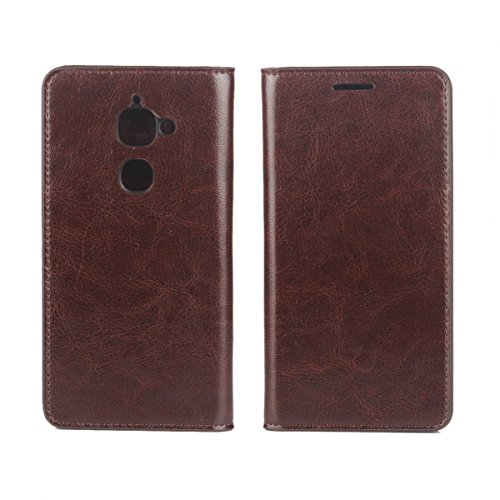 LeTv Le 2 Case,LeTv Le 2 Case,Closed Premium PU Leather Wallet Snap Case Closed Closed Flip Cover for LeTv Le 2 Dark Brown -