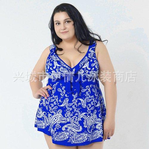 Mme summer maillot de bain grand timbre conservateur jupe maillot split-YU&XIN Blue