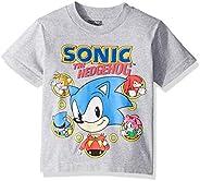 Sega Boys' Little Sonic The Hedgehog Short Sleeve Tshirt