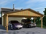 Carport Satteldach MONZA III 600x700cm Bausatz Satteldachcarport