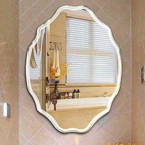 An der Wand befestigter geformter Spiegel des Badezimmers/ovaler Schlafzimmerspiegel-Schminkspiegel Frisierkommode Wand-angebrachter Spiegel/Badezimmer, Flur, Hotel (größe : 60*80cm)