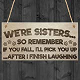 Best Gifts For Sisters - Red Ocean Sisters Fall Finish Laughing Novelty Wooden Review