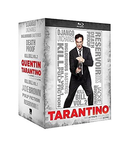 Quentin Tarantino: Ultimate Collection Bluray Boxset Region free Includes: 8 great Tarantino films: Django Unchained; Inglourious Basterds; Death Proof; Kill Bill Vol. 1; Kill Bill Vol. 2; Jackie Brown; Pulp Fiction; Reservoir Dogs