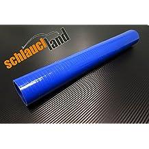 90/° Bogen Silikonschlauch /Ø 76 mm Blau Turbo Hose Verbinder Ladeluftschlauch flexibel Universal