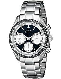 Omega hombre 326.30.40.50.01.002velocidad Master Racing analógica pantalla automático suizo reloj, color negro y plata