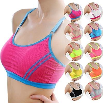 Amison Frau Dame Sport Yoga Sportlich solide Wickeln Brust Gurt Weste TopBH (Einheitsgröße)