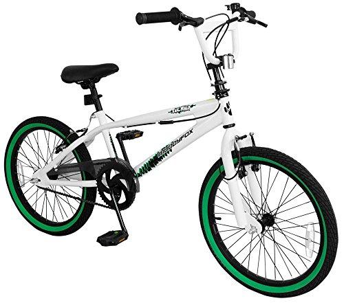 20′ Fahrrad BMX Freestyle Whip 360° Rotorsystem BMX-Räder BMX Anfänger Bike RAD Bicycle, Schwarz Grün