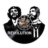 LTOOD Fidel Castro Che Guevara Casa Cubana Deor Reloj de Pared La Habana Cuba Revolución Disco de Vinilo Reloj Viva Cuba Libre Bandera Cubana Reloj