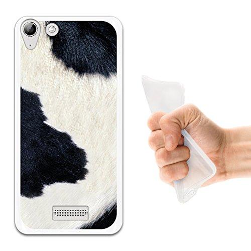WoowCase Wiko Selfy 4G Hülle, Handyhülle Silikon für [ Wiko Selfy 4G ] Tier Kuhdruck Handytasche Handy Cover Case Schutzhülle Flexible TPU - Transparent